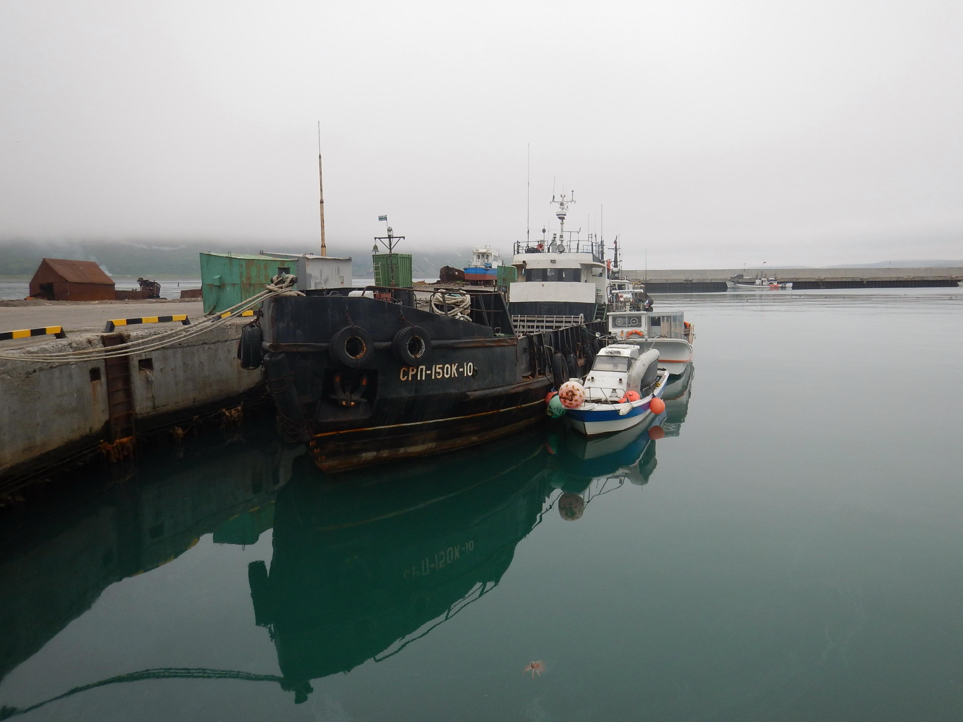 Курилы, остров Парамушир, порт Северо-Курильска