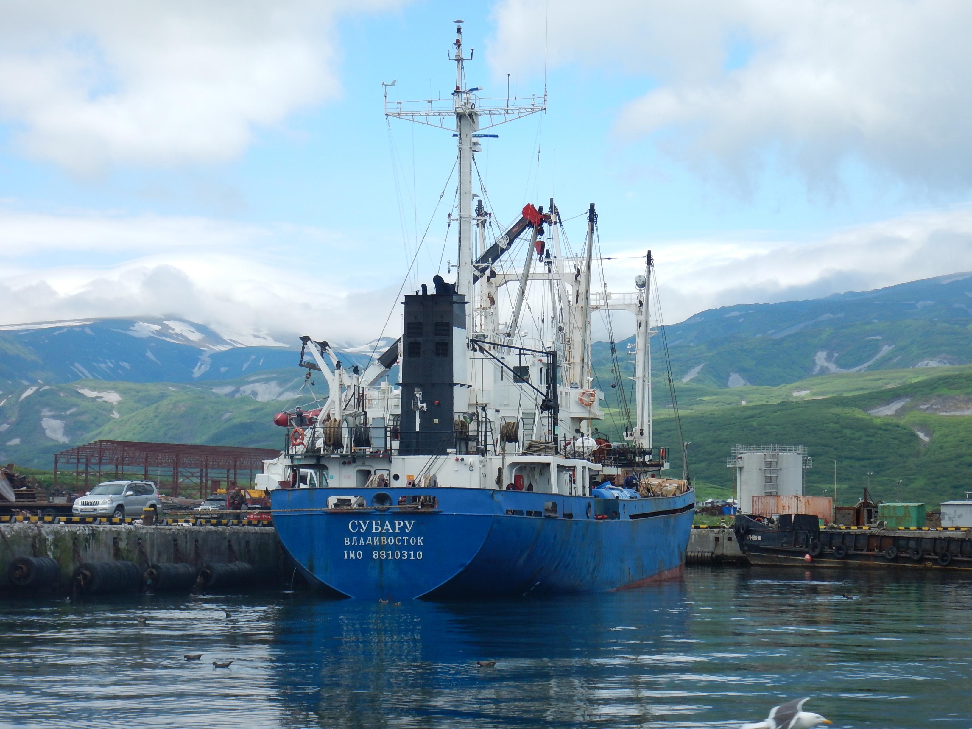 порт Северо-Курильска, судно Субару