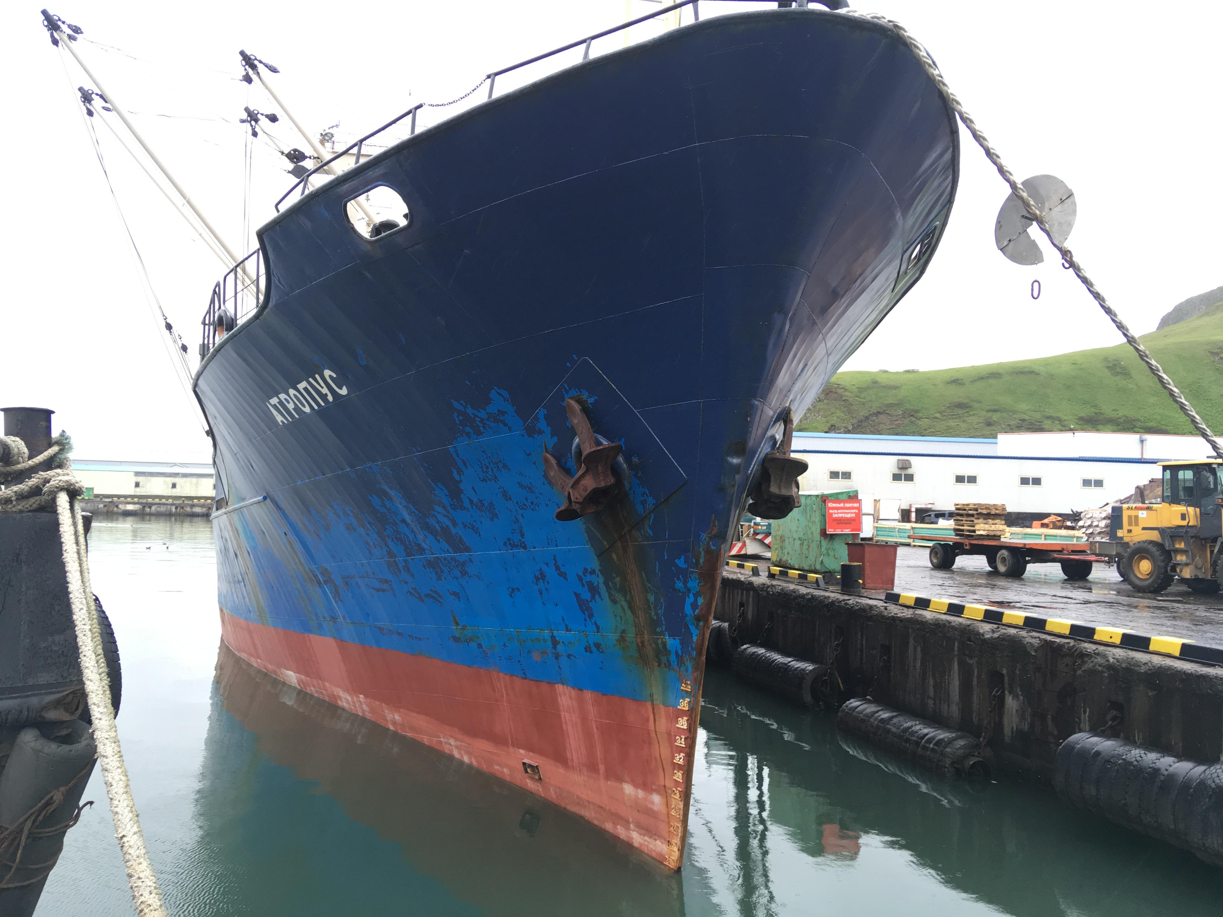 порт Северо-Курильска, судно Атропус