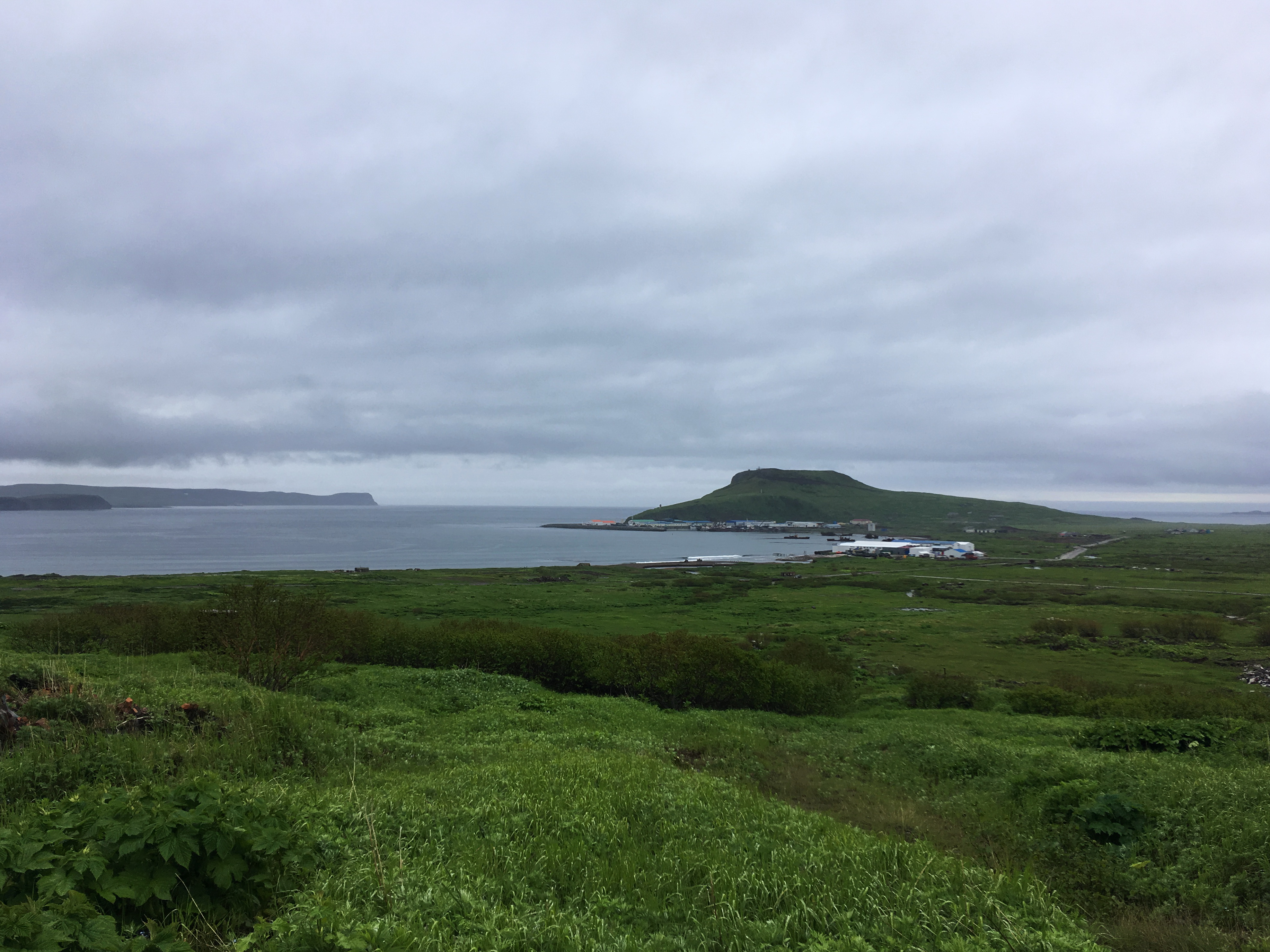 порт Северо-Курильска, вид с холма