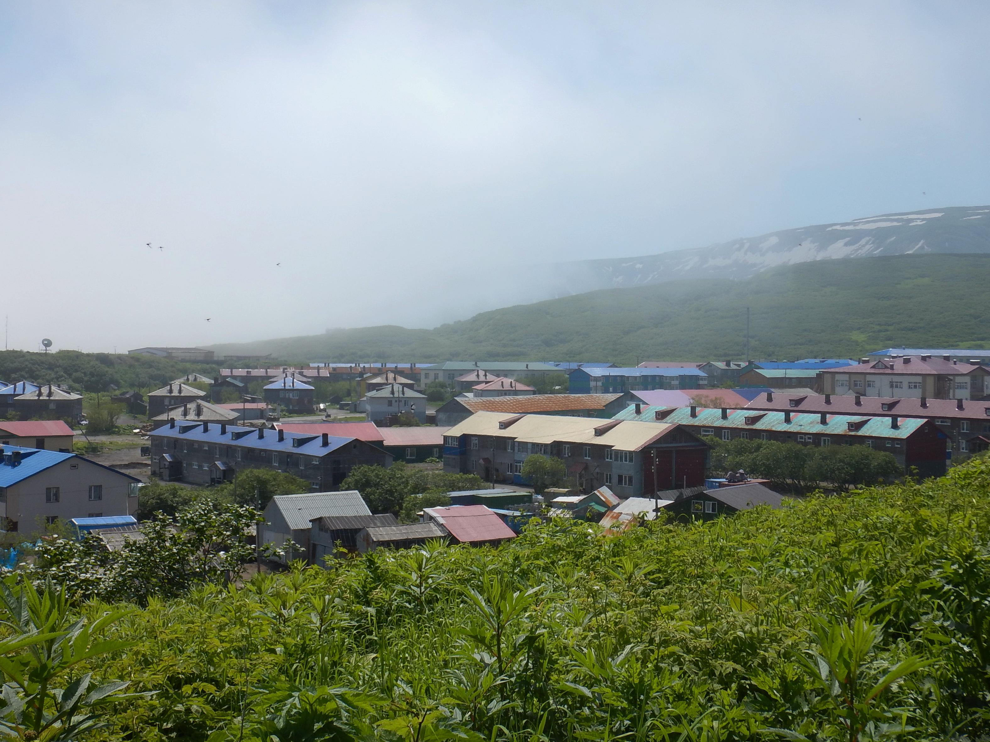Северо-Курильск, вид с холма