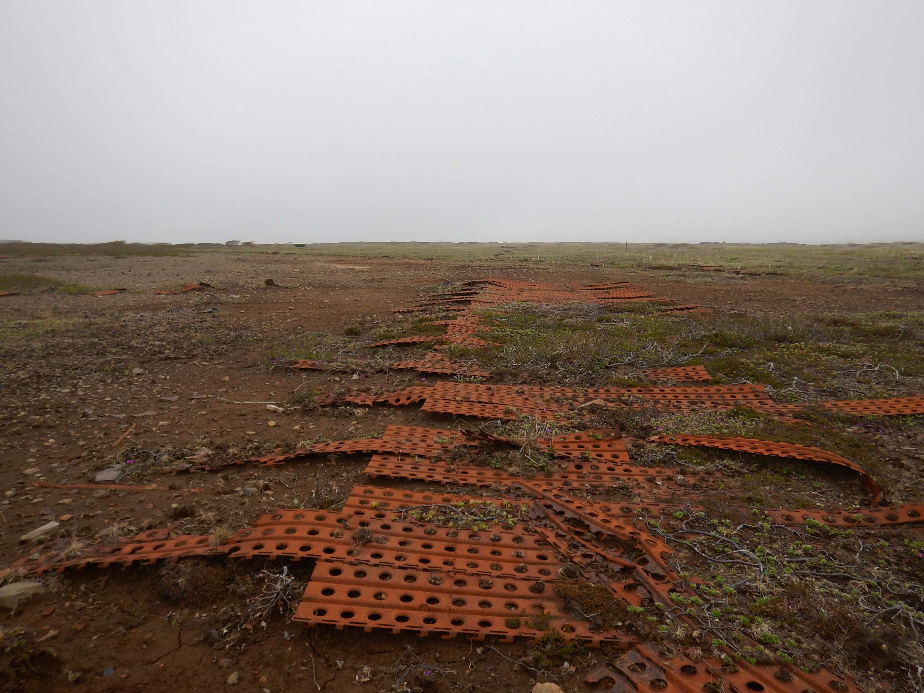 Курилы, остров Шумшу, остатки японского аэродрома