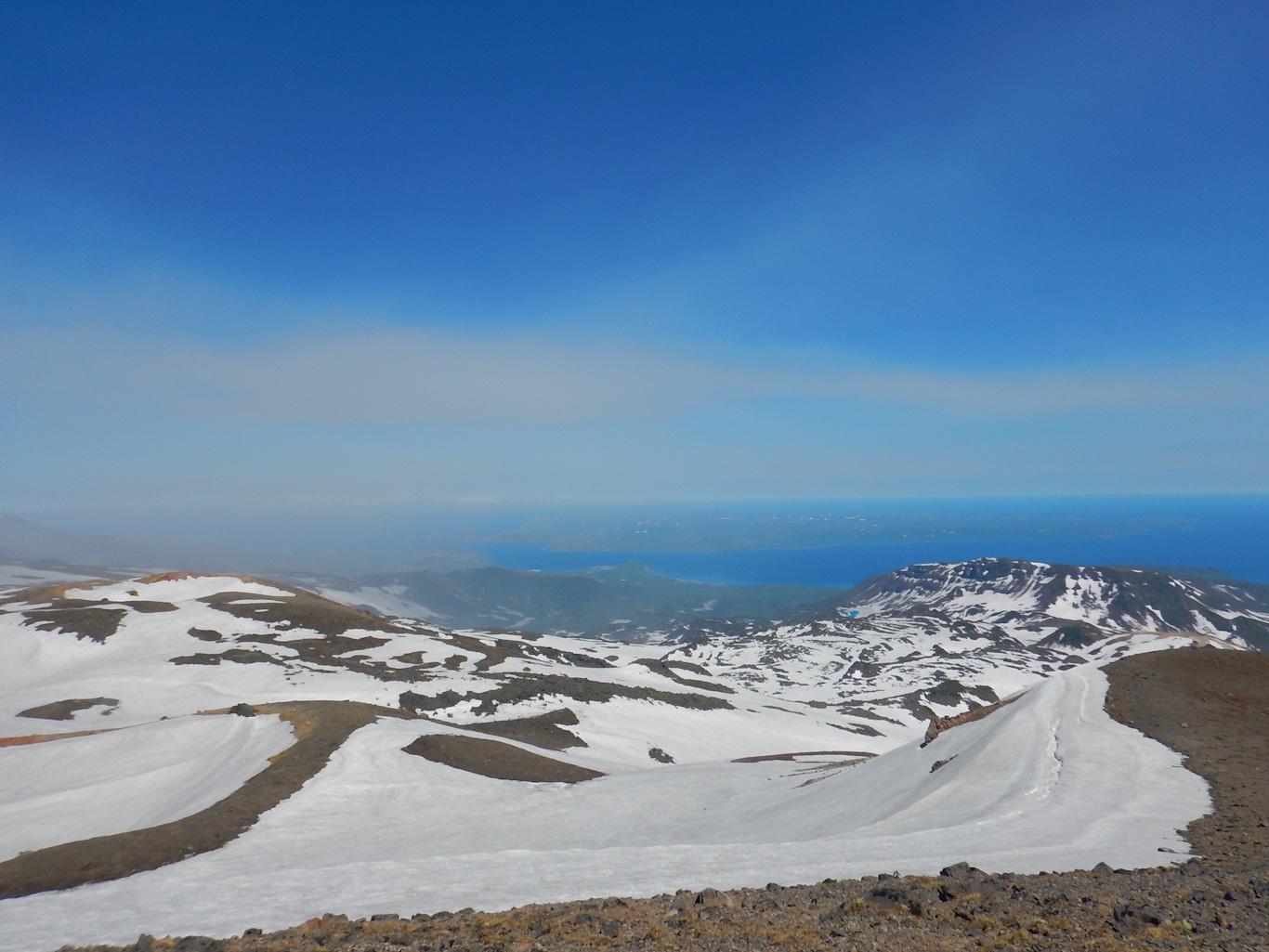 Вид на Шумшу, с гор Парамушира