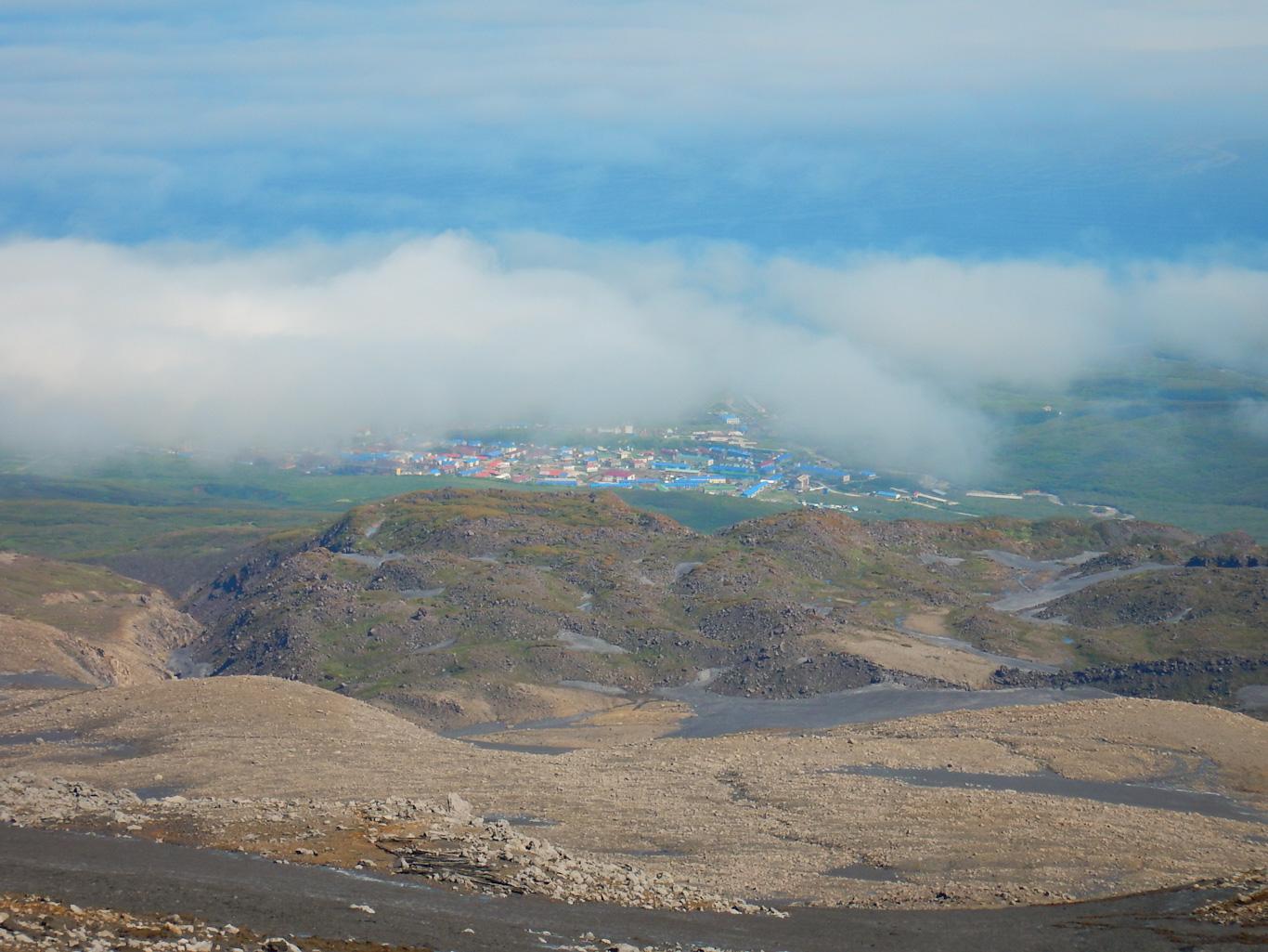 Северо-Курильск вид с Эбеко
