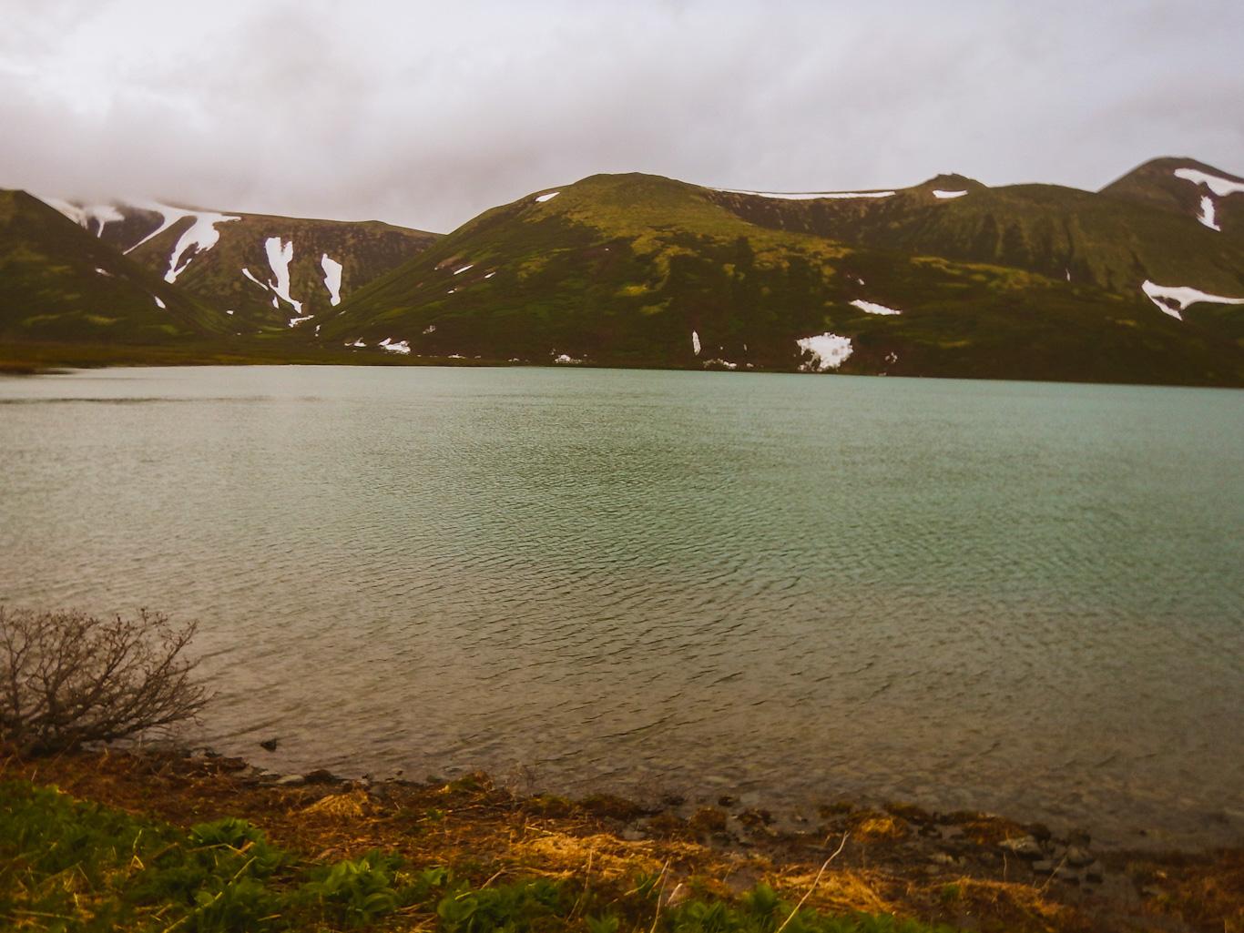 Остров Парамушир озеро Глухое