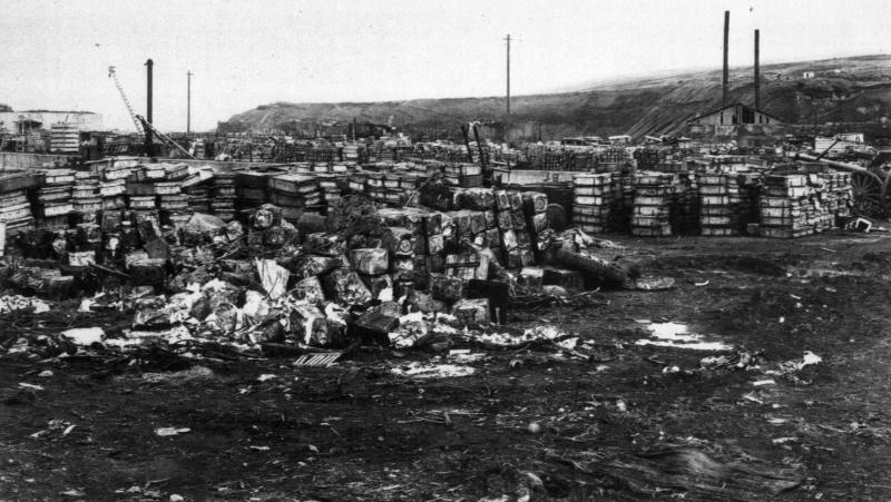Японские боеприпасы на Шумшу. Август 1945
